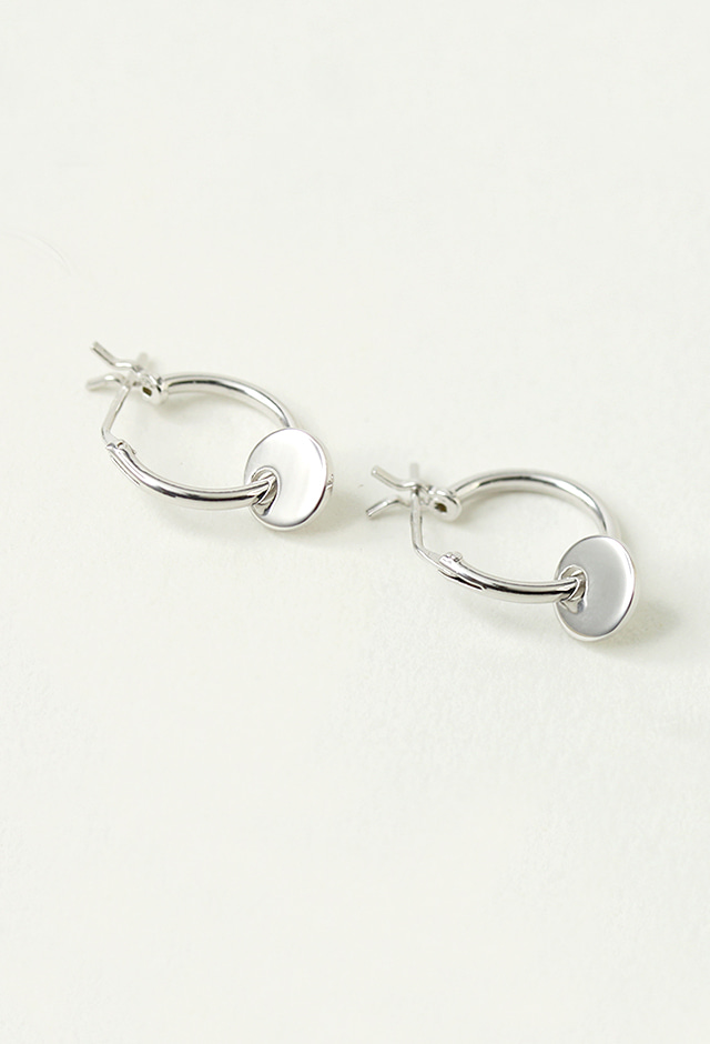 silver, earrings